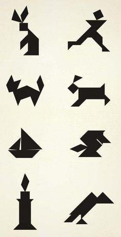 simple tangram patterns - Google Search
