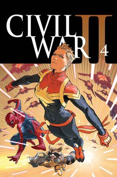 Civil War II #4- Captain Marvel by Marko Djurdjevic *