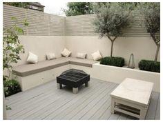 Built In Garden Seating, Backyard Seating, Outdoor Seating, Backyard Landscaping, Deck Pergola, Pergola Kits, Pergola Ideas, Backyard Waterfalls, Patio Awnings