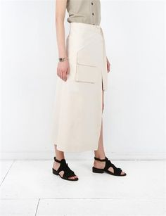Creatures of Comfort April Apron- Dobby Off White