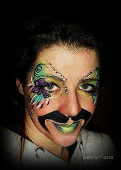 girlie geek face painting