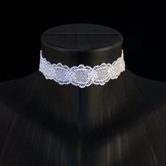 Arthlin Jewelry Simple White Lace Choker Necklace, Handmade in the USA (*Partner Link) Simple Necklace, Simple Jewelry, Handmade Necklaces, Handcrafted Jewelry, White Lace Choker, Lace Embroidery, Gemstone Beads, Bridal Jewelry, Chokers