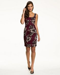 Slip on this tropical print cotton sateen dress for a look that you'll want to wear again and again this season.
