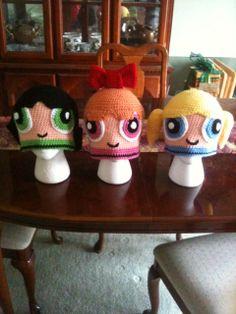 Crochet Powerpuff Girl Beanies
