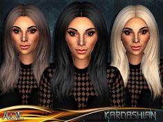Sims 4 CC's - The Best: Kardashian Hair by Ade_Darma