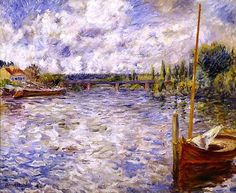 The Seine at Chatou,Pierre-Auguste Renoir