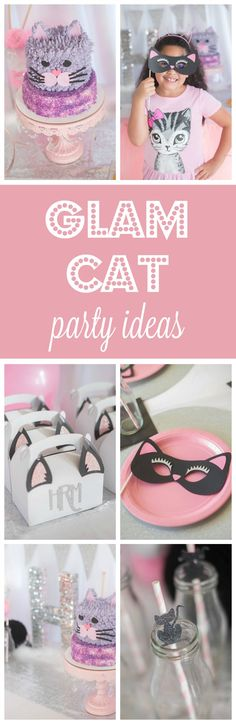 Glam Kitty Party Ideas | Pretty My PartyTap the link to check out great cat products we have for your little feline friend!