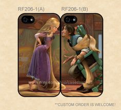 RF206-1 Disney Tangled Rapunzel and Flynn Couple Case, iPhone 4/4s/5/5s/5C, Samsung Galaxy S2/S3/S4/S5/Note 2/3, Htc One S/X/M7 on Etsy, $27.99