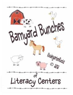 Barnyard Bunches of Literacy Centers - Farm Unit