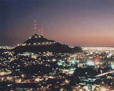 Cerro de la campana en Hermosillo, Sonora. Holds main towers and is also a great hike up to a marvelous view of the city.
