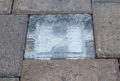Solar Crystal Glass White LED Under Ground Floor Brick Light Path Outdoor Lamp Patio Lighting, Landscape Lighting, Lighting Ideas, Brick Pavers, Brick Path, Cement Pavers, Solar Led Lights, Glass Brick, Garden Paths