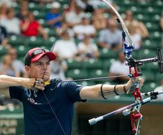 USA Team Archer Jake Kaminiski  #Olympics -- hit some sweet tens today against Italy. Team silver was first for USA in London