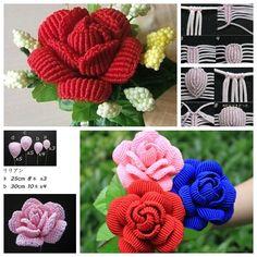 DIY Beautiful Macrame Rose.More #DIY projects: www.wonderfuldiy.com