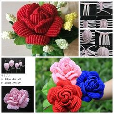 DIY Beautiful Macrame Rose.More #DIY projects: www.wonderfuldiy.com