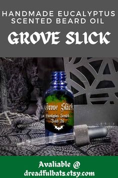🌳--GROVE SLICK EUCALYPTUS SCENTED BEARD OIL--🌳 --100% Pure Eucalyptus Essential Oil-- --100% Pure Spearmint Essential Oil-- --Moisturizing Vitamin E Oil-- --Chemical Free!-- --Promotes Hair Growth in Beards-- --100% Handsome Man-- Get one of these bad boys @ Dreadful Bats on Etsy! Spearmint Essential Oil, 100 Essential Oils, Eucalyptus Essential Oil, Mens Beard Oil, Diy Beard Oil, Glass Dropper Bottles, Beard Look, Vitamin E Oil, Handsome Man