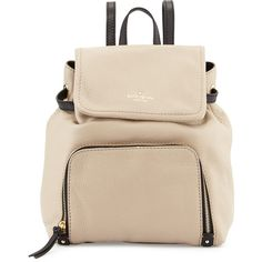 kate spade new york cobble hill charley leather backpack (10.065 UYU) ❤ liked on Polyvore featuring bags, backpacks, accessories, pink backpack, leather backpack, leather rucksack, flap backpack and kate spade