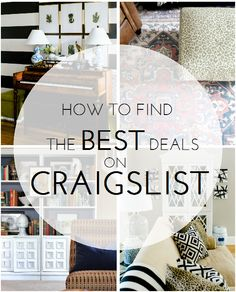 how to search and score the best deals when buying furniture on Craigslist