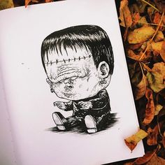 Chicago-based illustrator Alex Solis ( previously ), has created this incredible illustration series that features famous monsters and other terrifying characters from horror movies and tales as babies. Scary Characters, Scary Movies, Horror Movies, Freddy Krueger, Monster Illustration, Character Illustration, Arte Horror, Horror Art, Horror Cartoon