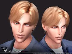 This hair style has 20 kinds of color  Found in TSR Category 'Sims 4 Male Hairstyles'