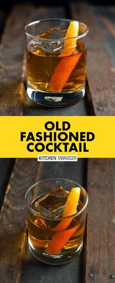 Bourbon Cocktails, Easy Cocktails, Classic Cocktails, Cocktail Drinks, Cocktail Recipes, Easy Whiskey Drinks, Cocktail Videos, Liquor Drinks, Bourbon Old Fashioned