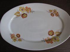 Antique Russia empire Kuznetcov Factory Kuznetsov large big plate dish flowers #Empire #KuznetcovFactory