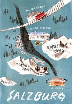 Salzburg map - Dana Jung