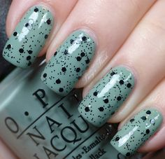 Nubar Black Polka Dot over OPI Thanks a Windmillion