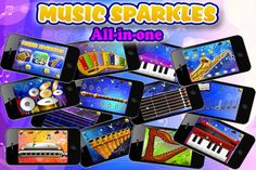 Music Sparkles – All in One musical instruments collection of Sound , Vocals and Fun Entertainment HD ($0.00)  * Amazing Xylophone with 4 octaves  * Cool drum set  * Classic & Electric guitar with 24 keys  * Majestic Harp with 12 strings  * Hip Saxophone - Triple Octave  * Smooth Recorder Flute - Dual Octave  * Grand Piano with 4 octaves  * Great Dual Octave Accordion  * Awesome Dual Octave Harmonica   * Mystical Pan Flute - Dual Octave  * Vocal notes – learn all about musical notes