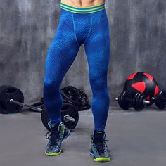 Men compression pants base layer tights running jogging exercise fitness gym football soccer basketball long pants