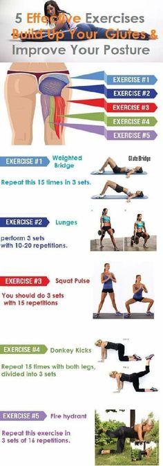 5 skutecznych ćwiczeń na zgrabną pupę i uda - SKUTECZNE!!!