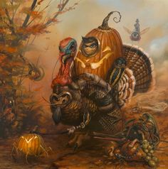 """""""The Gobbler"""" by Greg 'Craola' Simkins. 20″ x 30″ Giclee. Ed of 30 S/N. $165 