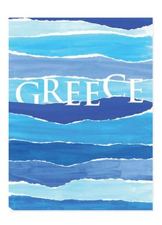 One Word Description For Greek Islands! Greek Blue, Go Greek, Greek Art, What A Country, Tourism Poster, Crete, Corfu, I Want To Travel, Island Girl
