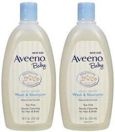AVEENO Baby Wash & Shampoo 18oz - 2 pack. One of our most popular items, and a top choice for mom gifts this holiday season!