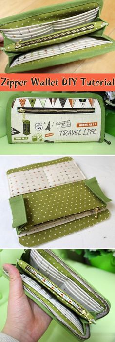 DIY Fabric Wallet ~ How to sew free tutorial for beginners. Ideas for sewing projects. Step by step illustration.DIY Fabric Wallet ~ How to sew free tutorial for beginners. Ideas for sewing projects. Step by step illustration. Sew Wallet, Fabric Wallet, Fabric Bags, Diy Wallet Zipper, Clutch Tutorial, Diy Tutorial, Diy Wallet Tutorial, Bag Quilt, Pochette Diy