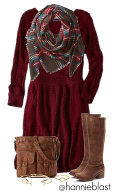 """""""Christmas Reunion"""" by hannieblast ❤ liked on Polyvore featuring American Eagle Outfitters, Buji Baja, Mix No. 6, Aéropostale and Irene Neuwirth"""