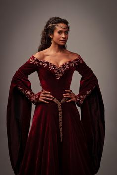 Angel Coulby as Queen Guinevere in the TV series, Merlin