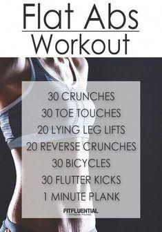 Fitness Motivation : Illustration Description FitFluential Flat Abs Workout -Read More – Workout Cardio, Flat Abs Workout, Abs Workout Routines, Abs Workout For Women, Ab Workout At Home, Workout For Beginners, At Home Workouts, Workout Fitness, Workout Ideas