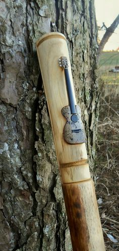 Hand Carved Guitar Walking stick  61 Collectors by bearpawrustics, $149.00