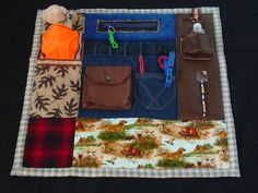 The Outdoors Man  Busy Hands Fidget Quilt  Fun by EndearingDignite, $40.00