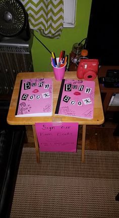 When throwing the perfect Mean Girls party - grab a burn book, a polaroid camera, some markers and a glue stick. Your friends do the rest of the work!