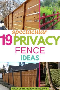 Natural Privacy Fences, Wood Privacy Fence, Privacy Hedge, Natural Fence, Yard Privacy, Landscape Design Small, Modern Garden Design, Nosy Neighbors, Tall Grasses