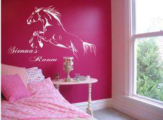 Jumping Horse Personalised Custom Name Wall by VinylEleganceAU, $49.95