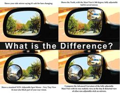 Blind spot mirrors Blind, Mirrors, Automobile, Foundation, Safety, Car, Security Guard, Foundation Series, Mirror