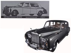 1964 Rolls Royce Phantom V MPW Gunmetal Grey LHD 1/18 Diecast Model Car by Paragon - Brand new 1:18 scale car model of 1964 Rolls Royce Phantom V MPW Gunmetal Grey LHD diecast car model by Paragon. Comes with Certificate of Authenticity. Rubber tires. Brand new box. Has steerable wheels. Has opening hood, doors and trunk. Detailed interior, exterior, engine compartment. Dimensions approximately L-11.5, W-4.5, H-4 inches.-Weight: 4. Height: 8. Width: 15. Box Weight: 4. Box Width: 15. Box…