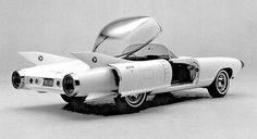 concept cars The 1959 Cadillac Cyclone concept. Heres a press photo that was lurking in our cabinet of a nice concept, the 1959 Cadillac Cyclone. This Jetson-like bubble 1959 Cadillac, 1957 Chevrolet, Chevrolet Trucks, Chevrolet Impala, Ford Gt, Ford Mustang, Chevrolet Avalanche, Automobile, Futuristic Cars