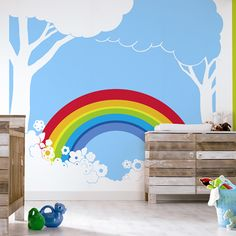 Paint. the. whole. world. with. a. rainbow. Baby room! :)
