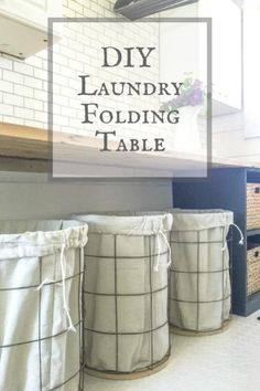 Laundry Table Ideas laundry room folding table home design ideas Laundry Room Folding Table Ideas But Its Not Its A Laundry Folding Table Because It Does This For The Home Pinterest More Laundry Folding
