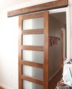 "make your own sliding doors - 1""x4"" frame, then glue on plexiglass - mitchellsigman.com - midcenturymalaise"