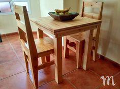 Ideal para utilizarla como mesa de comedor y/o cocina. Nuestra mesa Luján es la solución perfecta para los que busquen una mesa de dimensiones reducidas y que mantenga un aspecto cálido y rústico. Furniture Catalog, Dining Table, Beds, Store, Wood