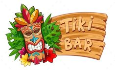 View top quality illustrations of Tiki Tribal Wooden Mask Hawaiian Traditional Character. Find premium, high-resolution illustrative art at Getty Images. Tiki Party, Luau Party, Tiki Maske, Hawaian Party, Tiki Bar Signs, Tiki Totem, Hawaiian Tiki, Banner, Stock Image